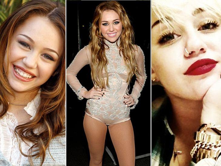 Vom Girlie zum Punk Chick: Der Look von Miley CyrusDie braven Jahre sind vorbei! Disney-Sweetheart Miley Cyrus (19) hat ihr mädchenhaftes Image ein für allemal abgelegt. Statt Wallemähne trägt sie jetzt Undercut, statt natürlichem Make-up g