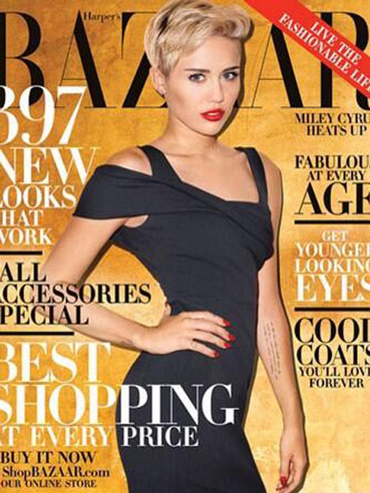 """Miley Cyrus ziert die Oktober-Ausgabe des """"Harper's Bazaar"""""""