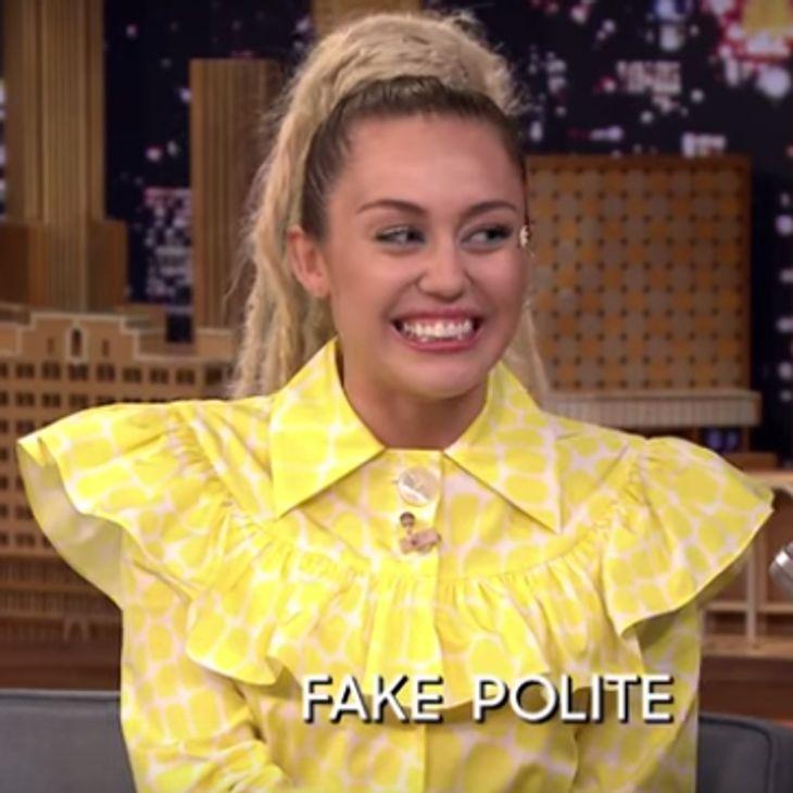 Miley bringt das Publikum zum Lachen