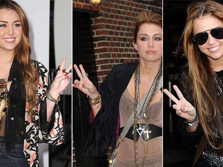 Diese Stars posen immer gleichPeace out, Miley! Der allgegenwärtige Gruß von Schauspielerin Miley Cyrus (19) ist mittlerweile schon zu ihrem Markenzeichen geworden. Friedensbotschafterin Miley ist so angetan von ihrem Lieblings-Fingerzeig,