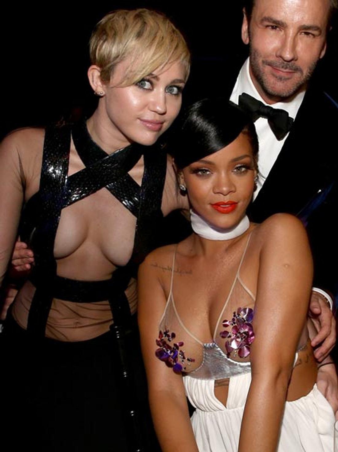 Miley Cyrus und Rihanna lassen tief blicken