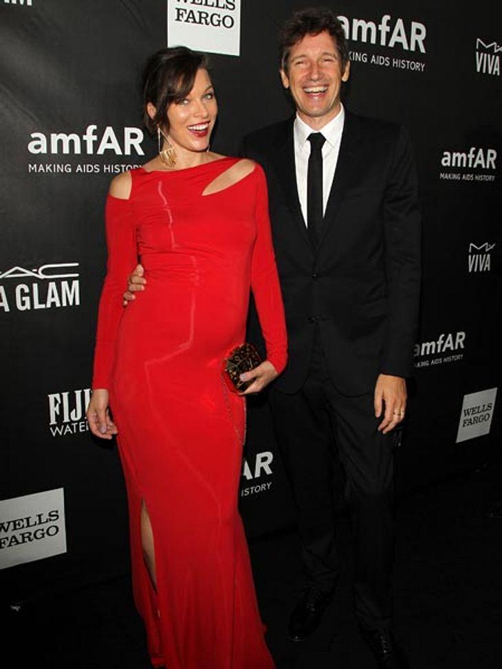 Freuen sich über ihr Babyglück: Milla Jovovich und Ehemann Paul W.S. Anderson