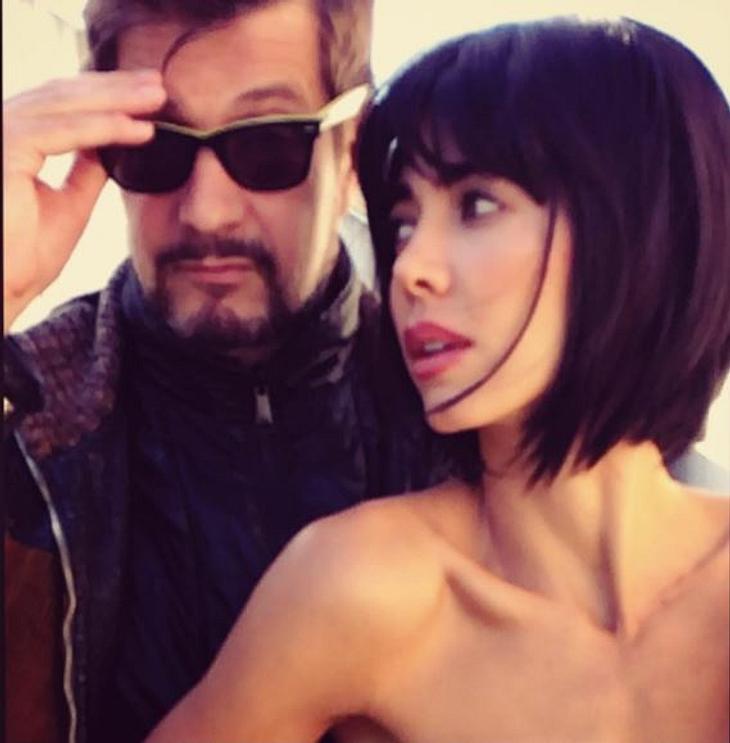 Milo Moiré mit ihrem Freund
