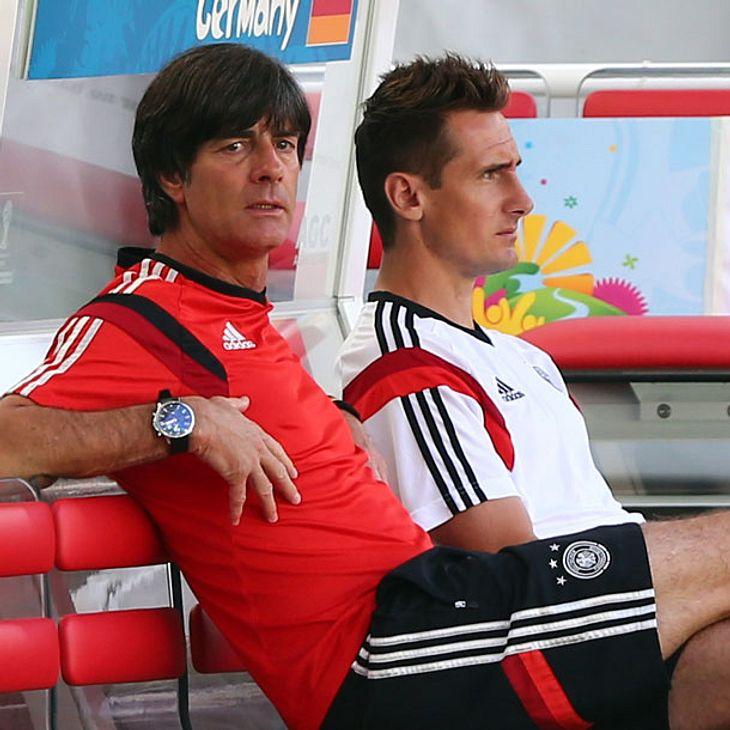 Miroslav Klose und Jogi Löw