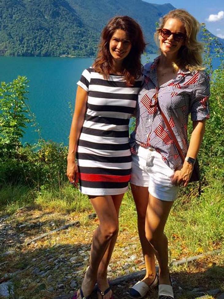 Monica Ivancan mit ihrer Schwester