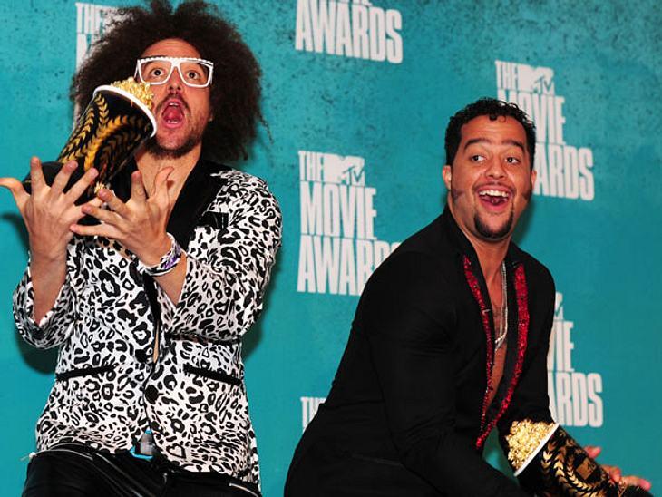 """MTV Movie Awards 2012: Die Highlights""""LMFAO"""" waren total aus dem Häuschen. Sie wurden für den besten Song in """"21 Jump Street"""" ausgezeichnet."""