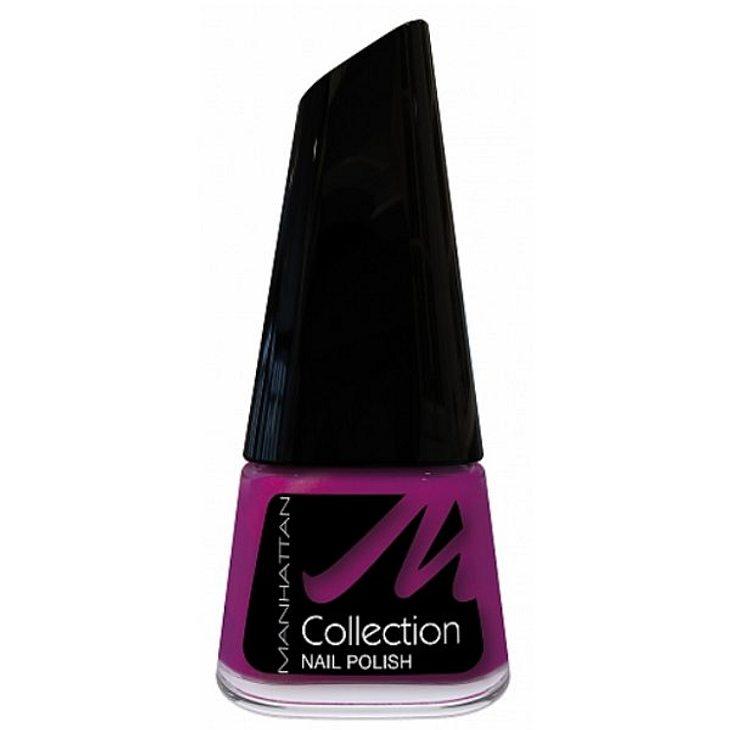 """Nagellack in dunklem Violett von """"Manhattan Cosmetics"""", um 3 Euro."""