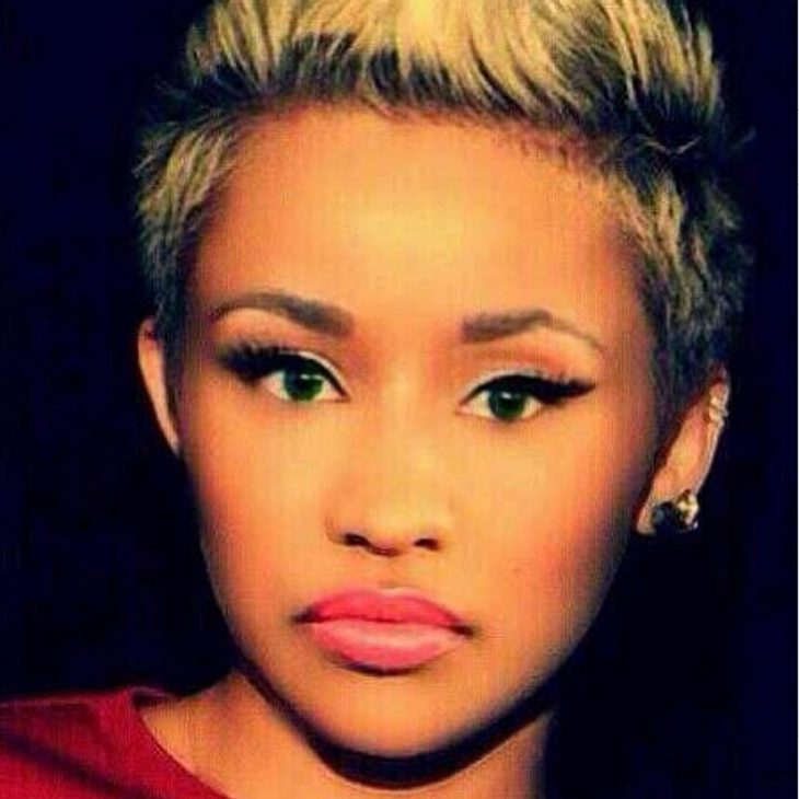 Nicki Minaj im Pixie Cut-Club