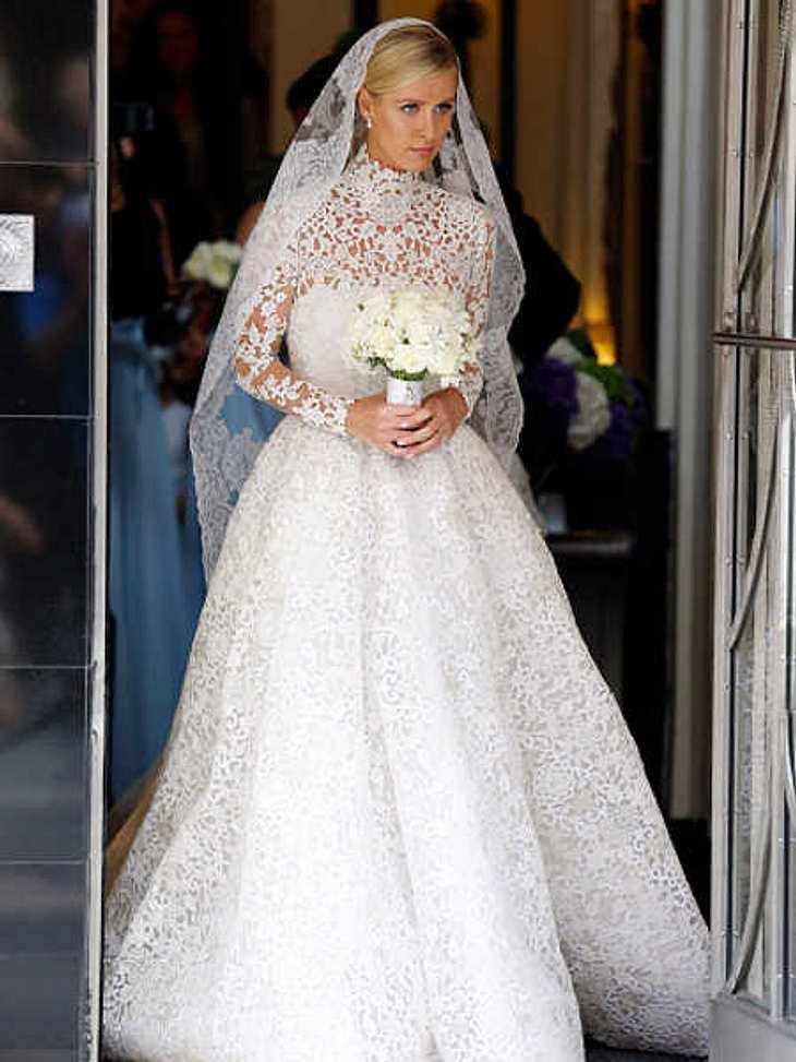 Nicky Hilton: Märchenhochzeit im Spitzen-Brautkleid