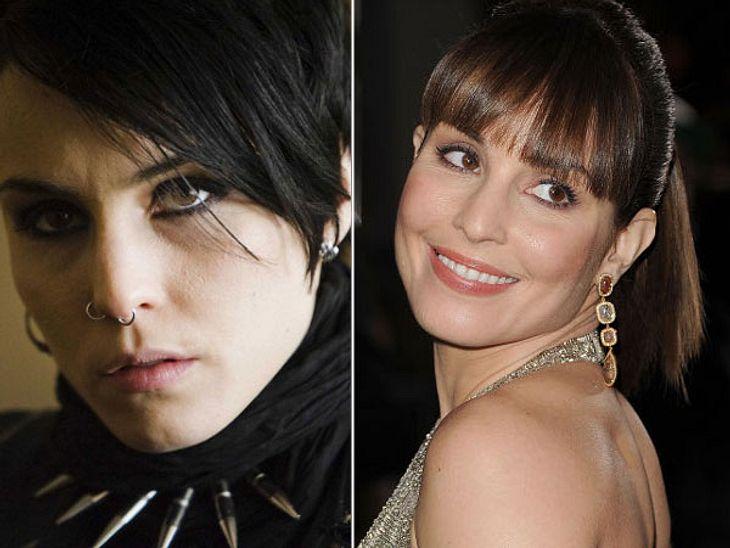 """,Rooney Mara vs. Noomi Rapace: Die """"Verblendung""""-StarsDie schwedische Lisbeth ist viel sexier als die ausgemergelte amerikanische Version. Ihre androgyne, aber durchtrainierte Figur wirkt stärker, als die der knochigen Rooney Mara"""