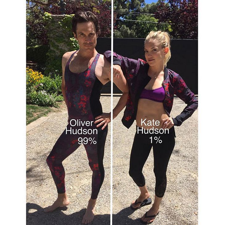 Oliver und Kate Hudson