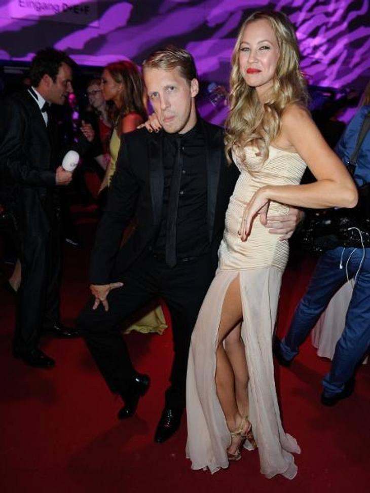 Deutscher Fernsehpreis 2012 - Die HighlightsImmer zu einem Späßchen aufgelegt: Oliver Pocher (34) und seine Frau Alessandra (29)