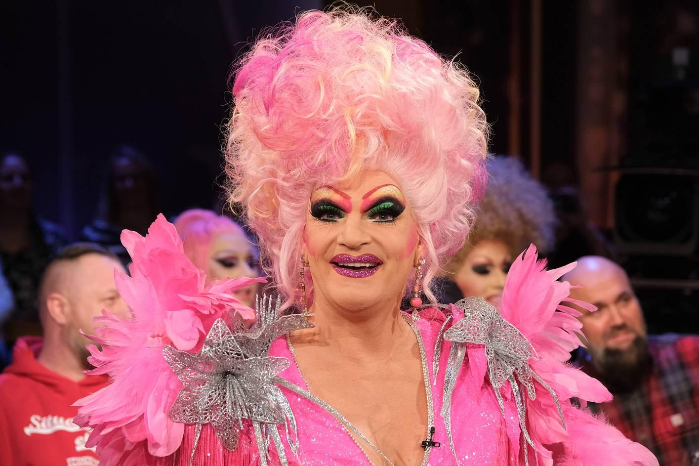 Olivia Jones mit Make-Up
