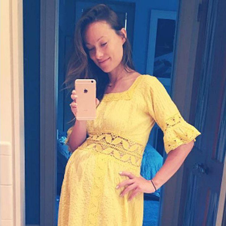 Olivia Wilde zeigt ihren Babybauch