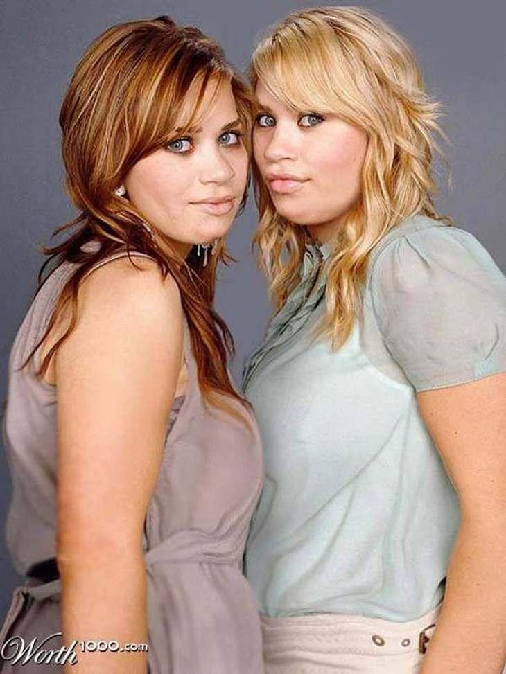 Die Olsen Twinsals typische amerikanische Teenager - dick und rund: So könnten sie aussehen, wenn sich sich anstatt der Mode und Partys, dem Essen widmen würden.