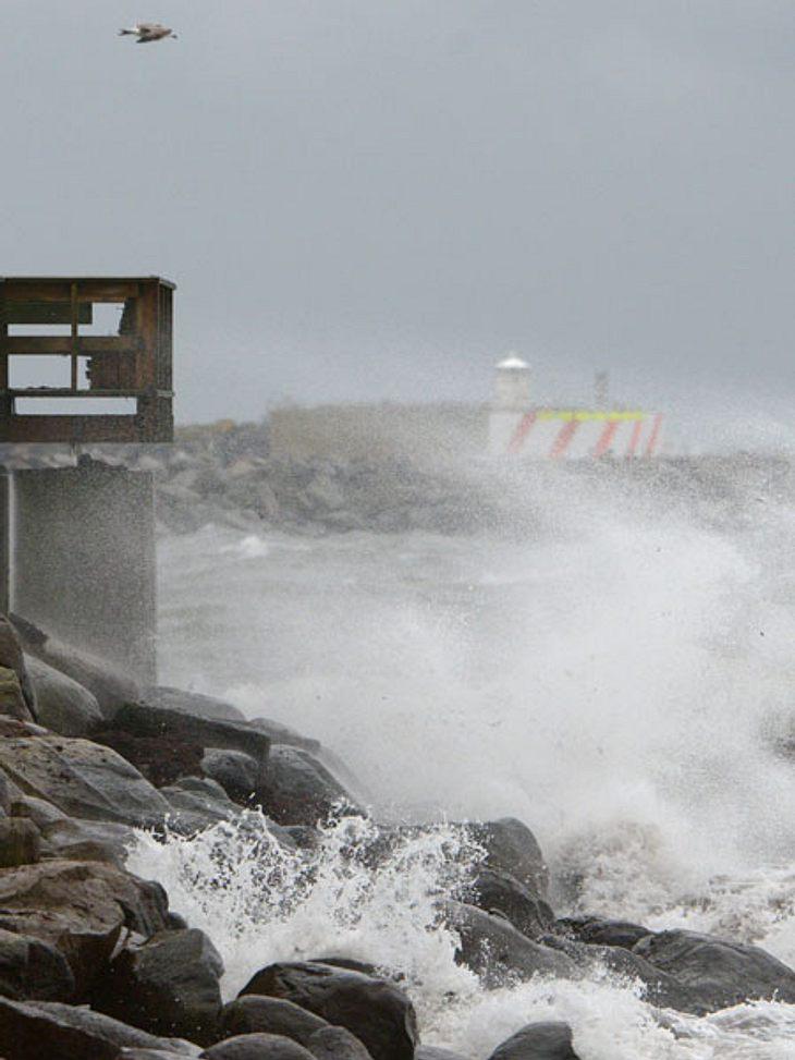 Orkan Xaver tobt über Norddeutschland