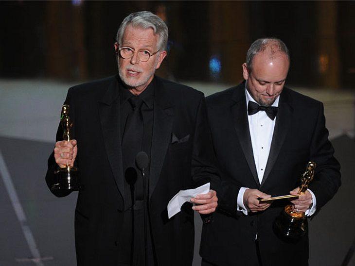 """Oscar 2012: Die strahlenden GewinnerBestes Make-up: J. Ron Helland, Mark Coulier (""""Die Eiserne Lady"""")."""