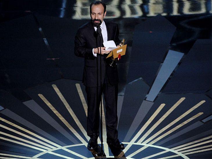 """Oscar 2012: Die strahlenden GewinnerBester ausländischer Film: Asghar Farhadi (""""Separation"""")."""