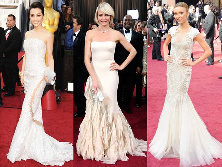 Die Kleider der Oscar-Verleihung 2012Den gleichen hellen Fishtail-Look wählten auch Li Bingbing (38) in Georges Chakra, Cameron Diaz (39) in Gucci und Giuliana Rancic (37) in Tony Ward.