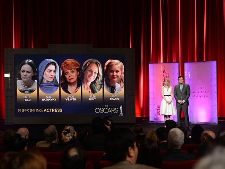 Seth MacFarlane und Emma Stone haben die Nominierten bekanntgegeben.