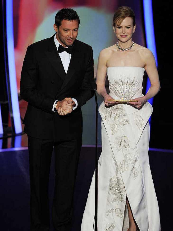 """Oscar-Verleihung 2011:Hugh Jackman  und die wunderschöne Nicole Kidman verliehen den Oscar in der Kategorie """"Beste Original-Filmmusik"""". Gewonnen hat """"The Social Network"""" über die Geschichte von """"Facebook""""."""