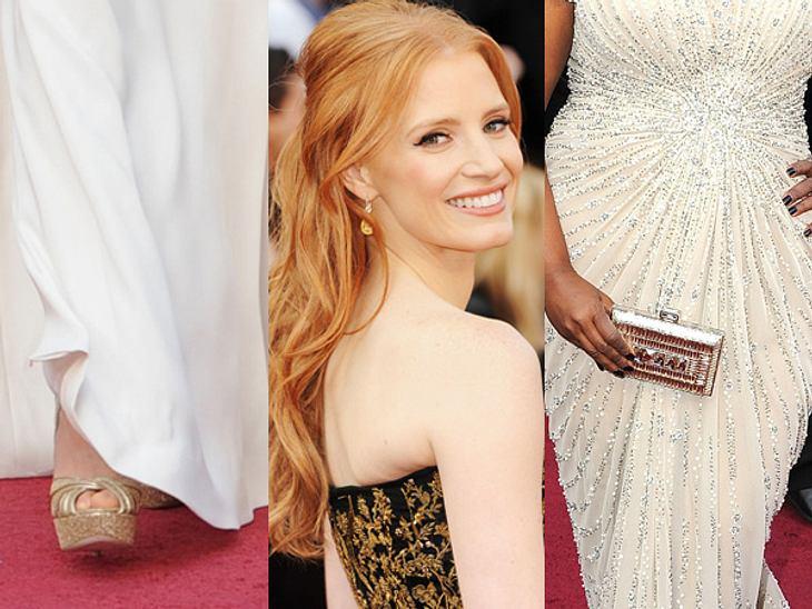 So teuer waren die Looks der Stars bei den Oscars 2012Luxuriöser Schmuck, edle Clutches und die neuesten Designer-Schuhe: Wie teuer waren eigentlich die Looks der Stars bei den Oscars 2012? Wir haben rangezoomt und verraten die Preise der p