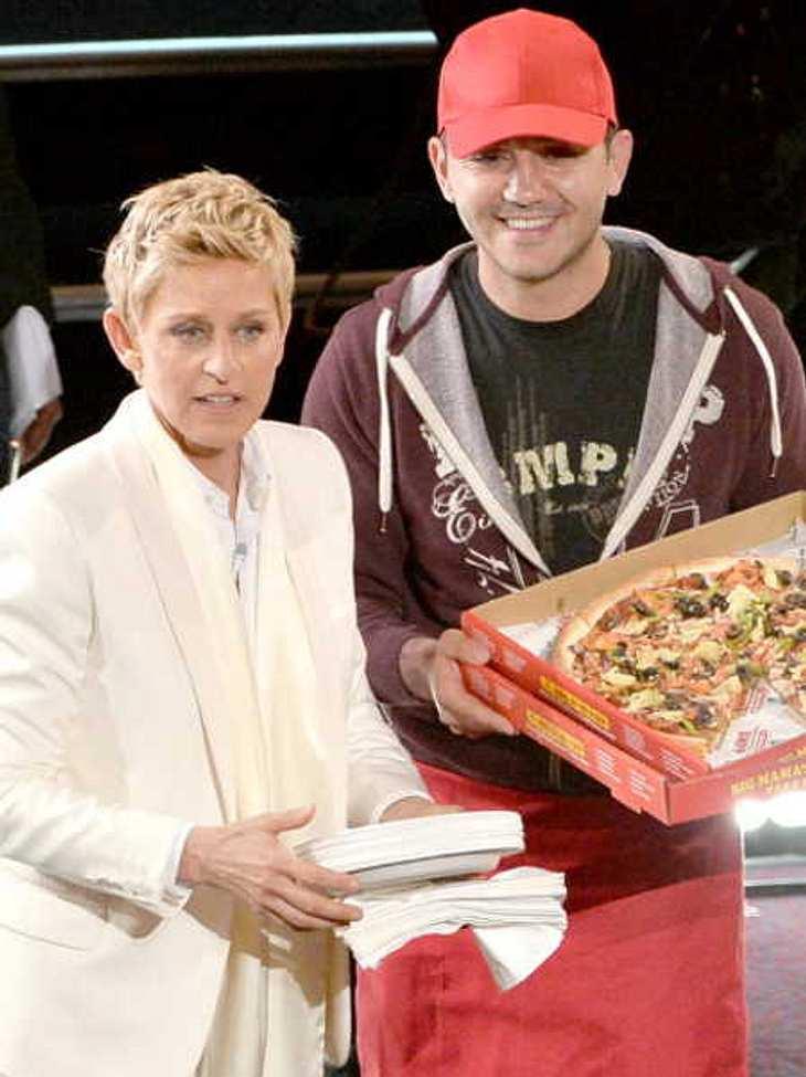 Für seine Dienste bei den Oscars 2014 wird der Pizzabote von Ellen DeGeneres großzügig entlohnt
