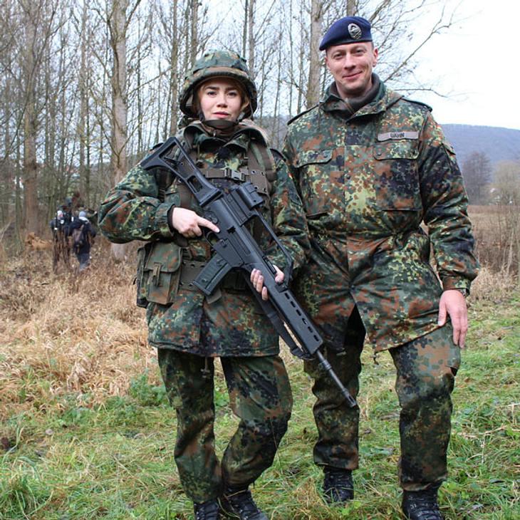 Irres TV-Experiment: Palina Rojinski wird bei ProSieben zur Soldatin