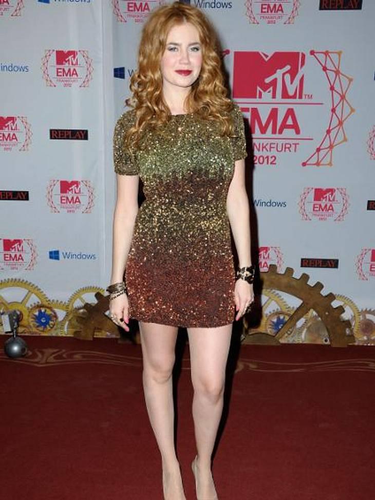 MTV Europe Music Awards 2012 - Die HighlightsPalina Rojinski (27) glitzerte im Pailletten-Kleid im Blitzlichtgewitter der Fotografen.