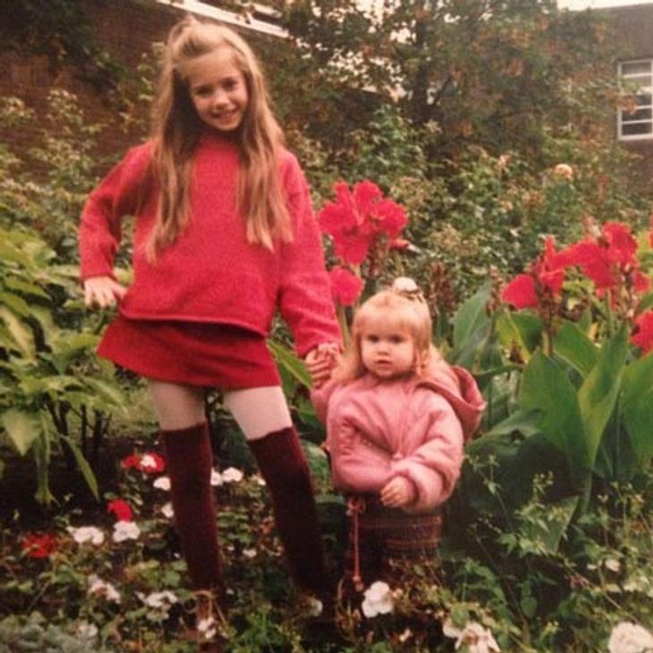 Palina Rojinski mit ihrer kleinen Schwester Vivi