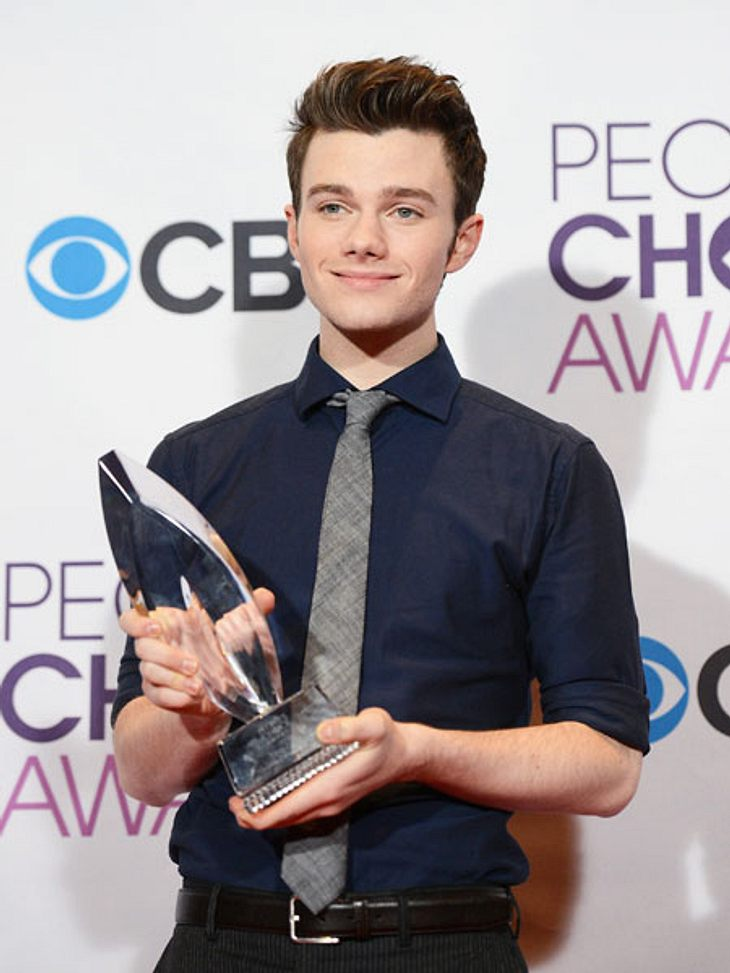 """""""People's Choice Awards"""" 2013Chris Colfer (22) wurde dank seiner Rolle in der Kultserie """"Glee"""" als bester Schauspieler in diesem Genre ausgezeichnet."""