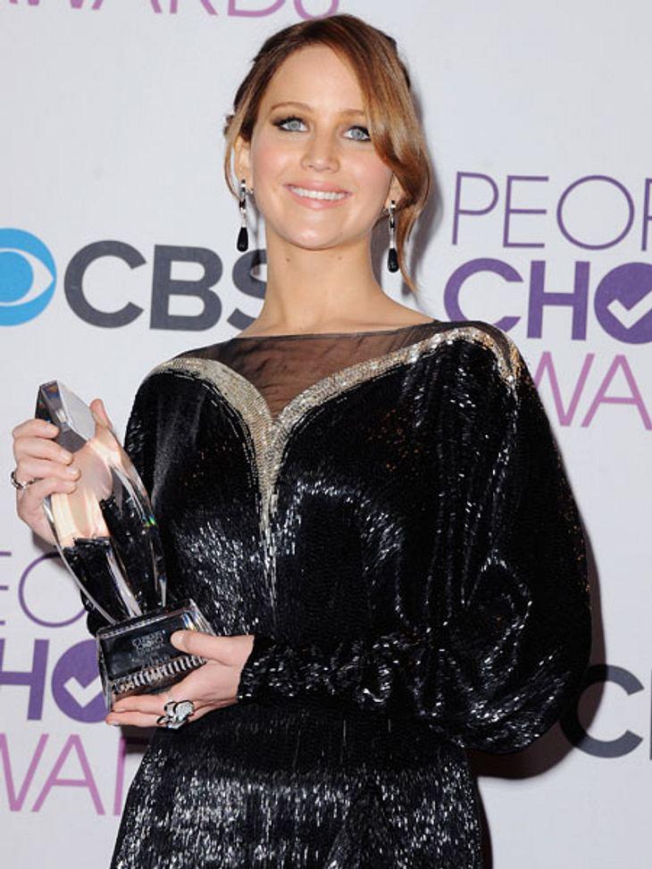 """""""People's Choice Awards"""" 2013Die strahlende Jennifer Lawrence (22) wurde zudem in der Kategorie """"beste Schauspielerin"""" ausgezeichnet."""
