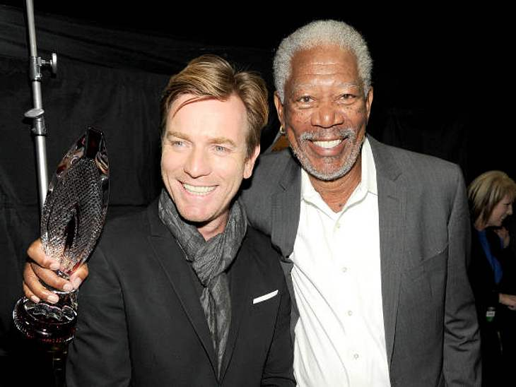 """""""People's Choice Awards"""" 2012Morgan Freeman (74 """"R.E.D."""")freute sich für den Preis für die beliebteste Film-Ikone."""