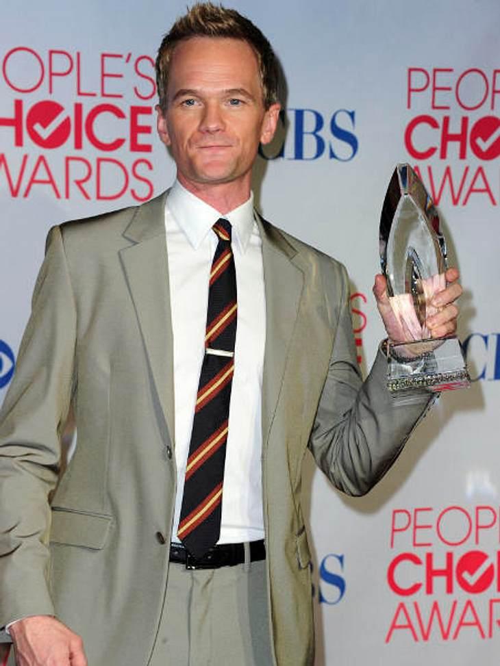 """""""People's Choice Awards"""" 2012Neil Patrick Harris (38, """"How I Met Your Mother"""") freut sich über die Auszeichnung als beliebtester Comedy-Schauspieler."""