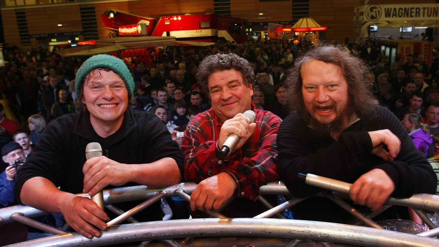 Peter Ludolf mit seinen Brüdern Manni und Uwe 2013