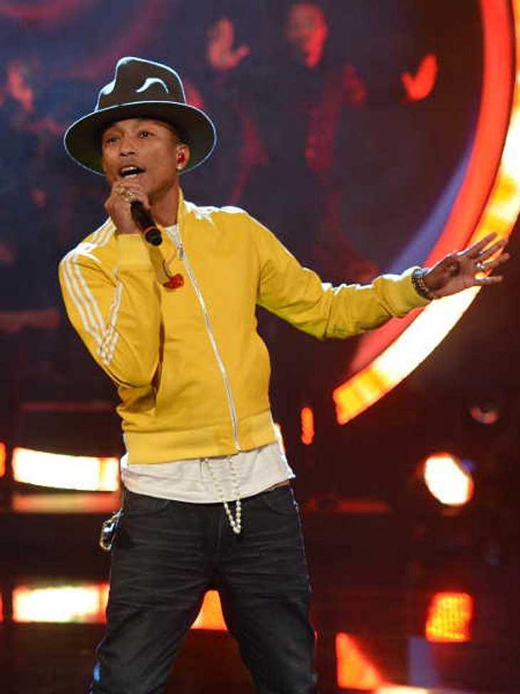 """Sogar Pharrell Williams konnte das """"Wetten, dass...?""""-Publikum nicht motivieren."""
