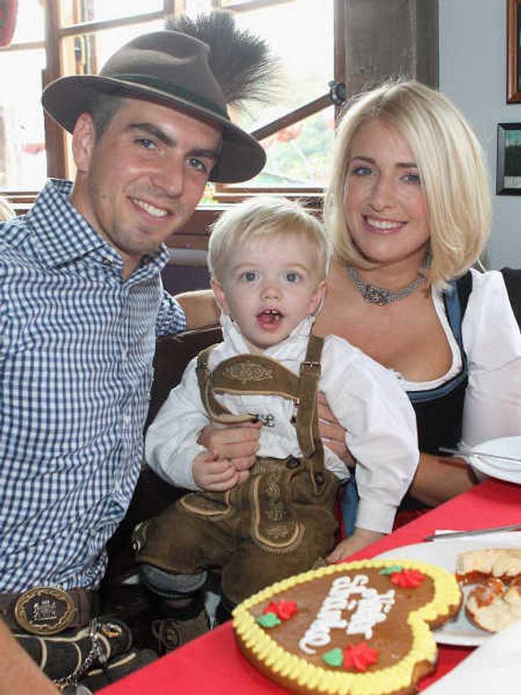 Philipp Lahm kam mit seiner Familie zum Oktoberfest.