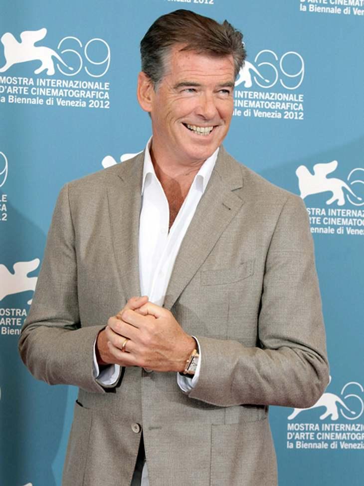 Die 69. Internationalen Filmfestspiele von Venedig Charismatisch wie eh und je: Pierce Brosnan (59) während des offiziellen Pressetermins.