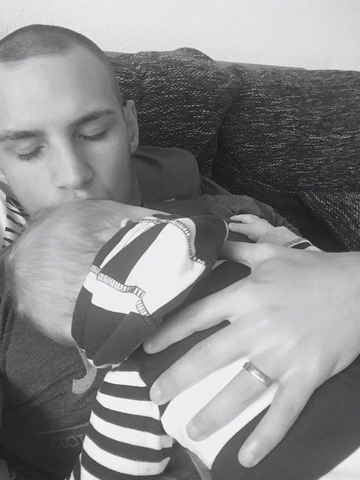 Pietro Lombardi: Kuschelstunde mit Baby Alessio