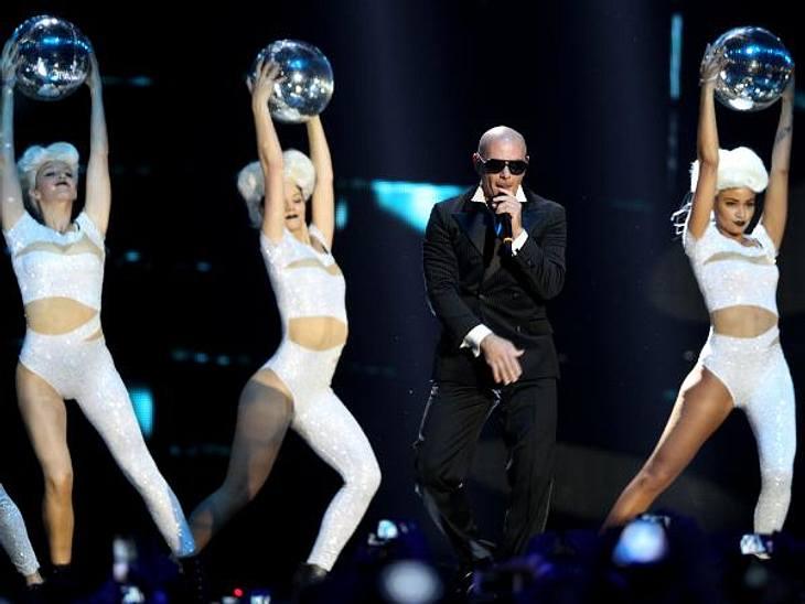 MTV Europe Music Awards 2012 - Die HighlightsRapper Pitbull (31) legte einen furiosen Live-Auftritt hin.