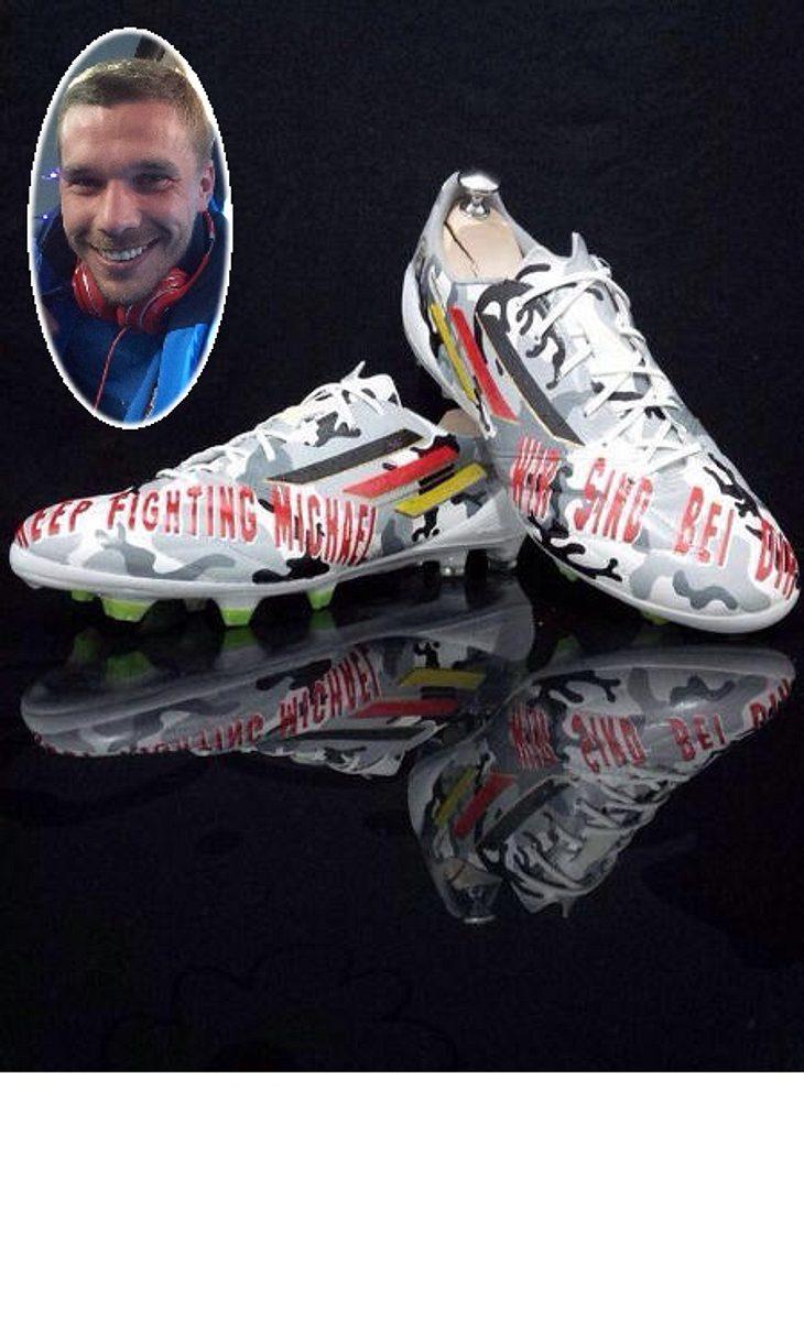 Podolski und seine Schuhe