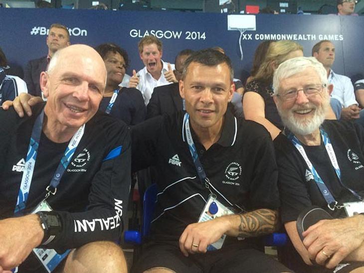 Oh yeah! Harry hat seinen Spaß bei den Commonwealth Games