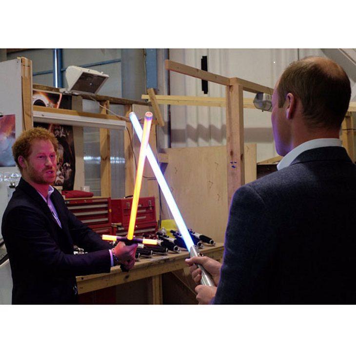 Prinz Harry und Prinz William bei Star Wars