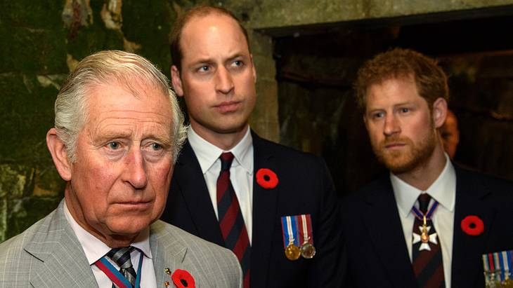 Prinz Charles war sauer auf William und Harry