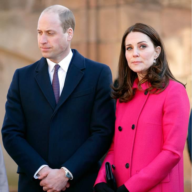 Prinz William lässt seine Kate eiskalt im Stich!