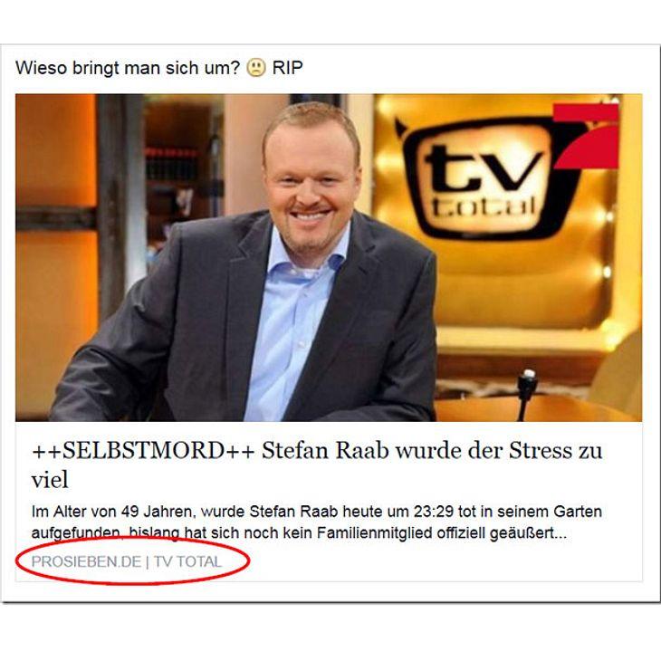 Facebook-Falle: Todesmeldung von Stefan Raab sorgt für Wirbel