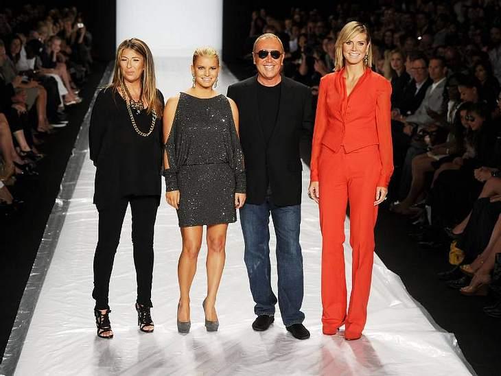 """Auch """"Project Runway"""" - die Nachwuchs-Designer-Show von Heidi Klum hatte seine eigene Show. Mit dabei Jessica Simpson als Gastjurorin für's Finale."""