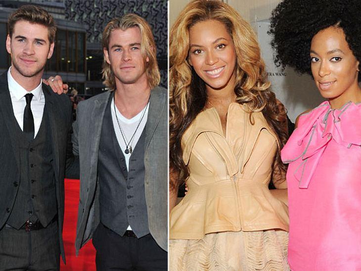 Die heißesten Promi-GeschwisterIn manchen Promi-Familien werden die guten Gene offenbar besonders großzügig verteilt. Ob nun die Brüder Liam (22) und Chris Hemsworth (28) oder auch Beyoncé (30) und Solange Knowles (25) - diese Promi-Geschwi