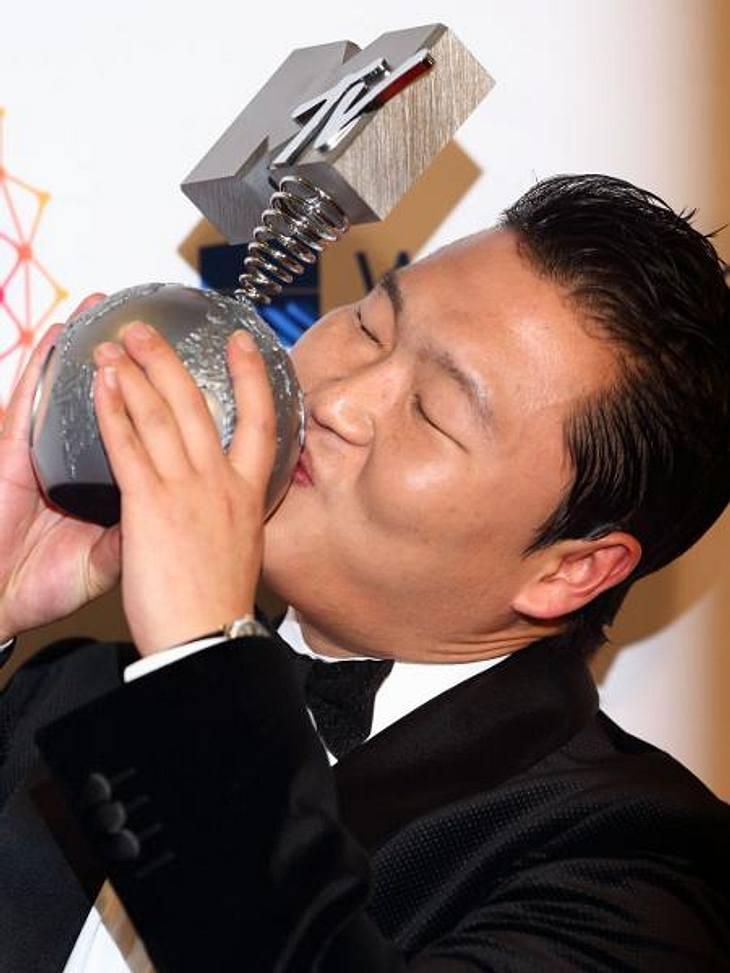 MTV Europe Music Awards 2012 - Die HighlightsKein Wunder, dass Psy dank seines Sensations-Hit auch einen Award mit nach Hause nehmen durfte.