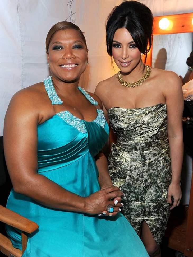 People's Choice Awards 2011Gastgeberin des Abends war  Queen Latifah - hier mit Kim Kardashian.People's Choice Awards 2011